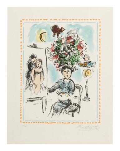 MARC CHAGALL | THE PAINTER WITH A CANDLESTICK (M. 1035)