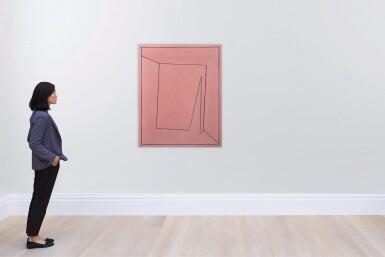 View 3. Thumbnail of Lot 2. Tout rose (peinture rectangulaire représentant un carré perspectiviste qui a la rougeolle), 1955.