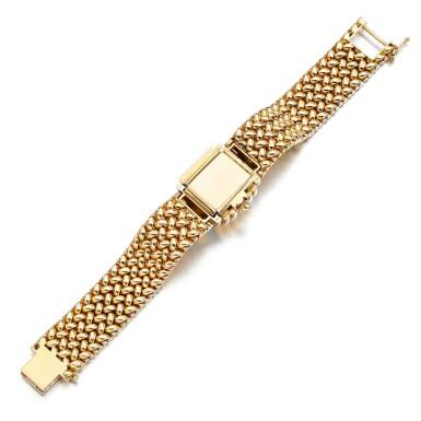 View 4. Thumbnail of Lot 73. Eska   Diamond watch/bracelet, 1950s.
