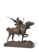 Svyatoslav on the Way to Tsargrad: a bronze figural group, after the model by Evgeni Lanceray (1848-1886), cast by Shtange, 1848-1886