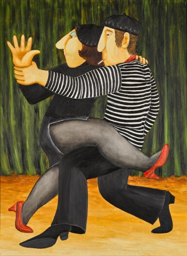 View 1. Thumbnail of Lot 140. BERYL COOK | FRENCH TANGO.