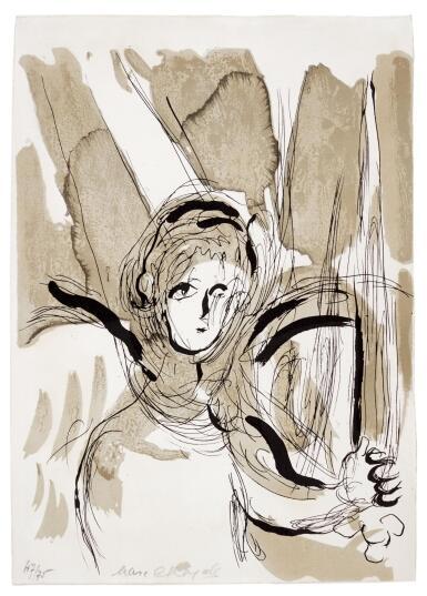 View 1. Thumbnail of Lot 1. MARC CHAGALL | L'ANGE A L'ÉPÉE (MOURLOT 119; CRAMER BOOKS 25).