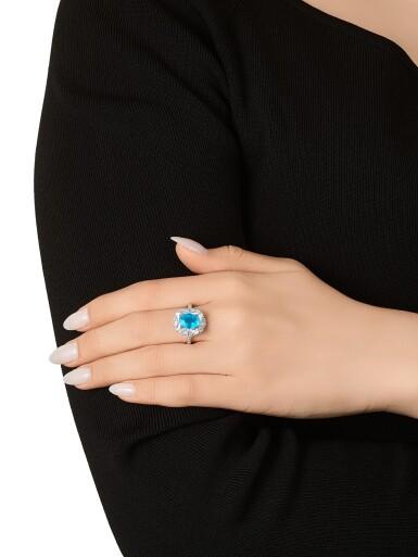 View 3. Thumbnail of Lot 1727. Paraíba Tourmaline and Diamond Ring | 1.98克拉「巴西」帕拉伊巴 配 鑽石 戒指.