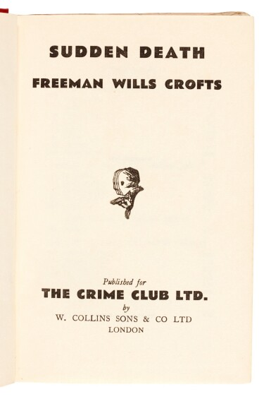 View 4. Thumbnail of Lot 78. Freeman Wills Crofts | Sudden Death, 1932.