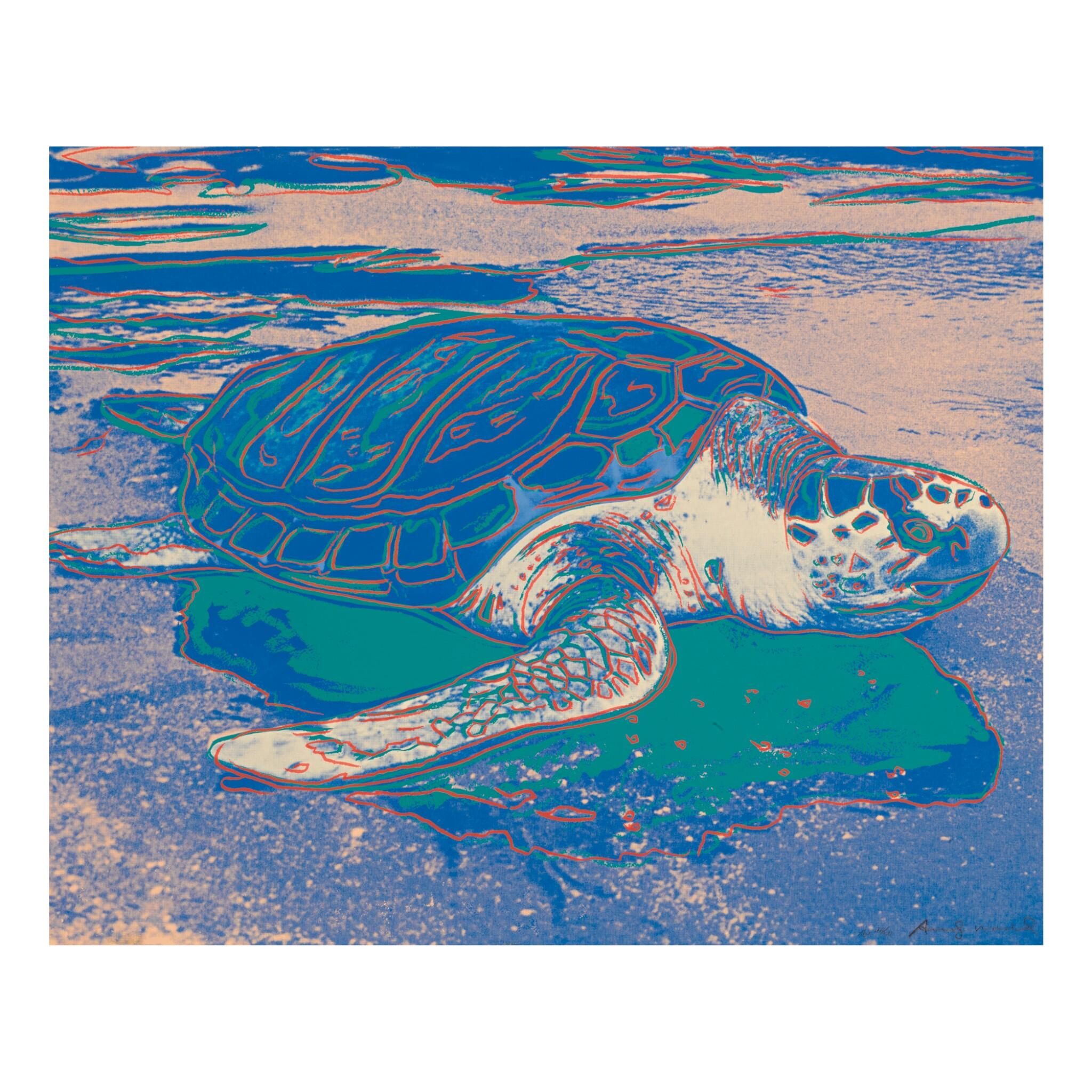 ANDY WARHOL | TURTLE (F. & S. II.360A)