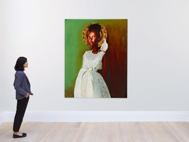 View 3. Thumbnail of Lot 203. OTIS KWAME KYE QUAICOE | GIRL IN WHITE DRESS .