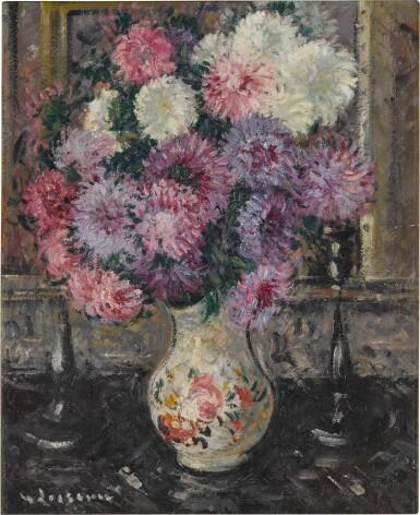 View 1. Thumbnail of Lot 8. Vase de fleurs.