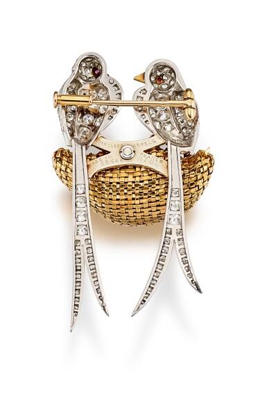 View 3. Thumbnail of Lot 9105. DIAMOND AND RUBY BROOCH, VAN CLEEF & ARPELS   鑽石 配 紅寶石 別針, 梵克雅寶(Van Cleef & Arpels).