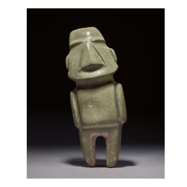 LARGE MEZCALA STONE FIGURE LATE PRECLASSIC, CIRCA 300-100 B.C.