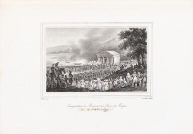 View 2. Thumbnail of Lot 109. [Esquisses sur la Bretagne]. Album de 12 lithographies. Armes de la duchesse de Berry..