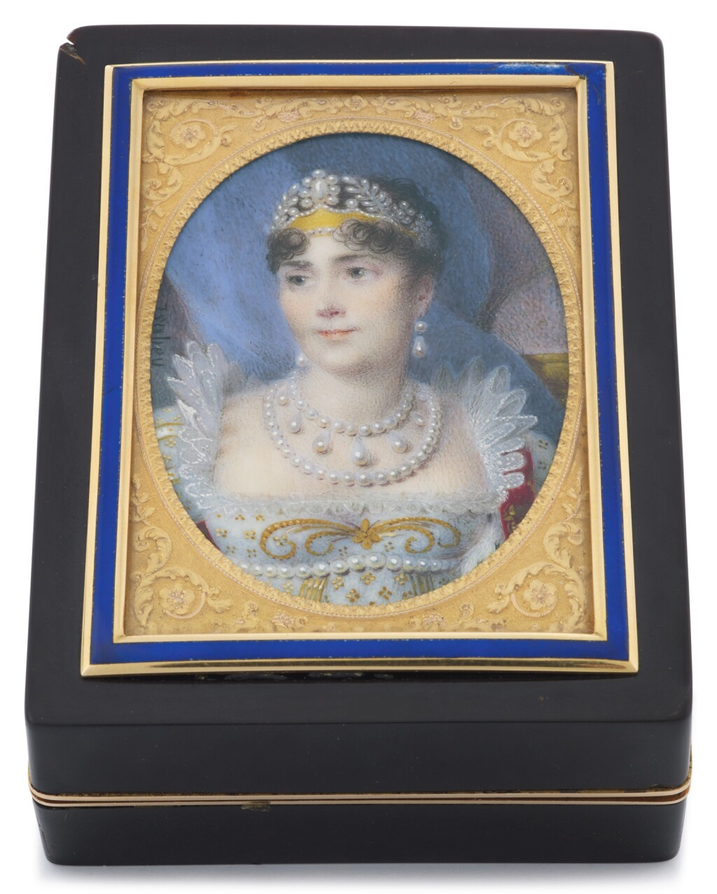 A GOLD-MOUNTED TORTOISESHELL SNUFF BOX WITH MINIATURE ON IVORY, JEAN-LOUIS-LEFERRE, PARIS, 1798-1809