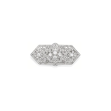 View 1. Thumbnail of Lot 234. BROCHE DIAMANTS, VERS 1930 | DIAMOND BROOCH, 1930S.