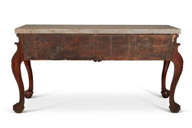 View 4. Thumbnail of Lot 111. An Irish George IV Carved Walnut Side Table, Circa 1820.