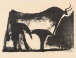 PABLO PICASSO | LE TAUREAU NOIR (B. 446; M. 89)