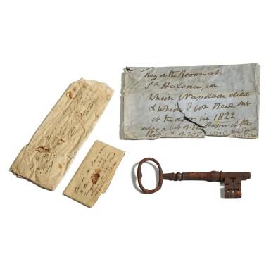"View 2. Thumbnail of Lot 116. ""The Key to Napoleon's Room"", circa 1815."