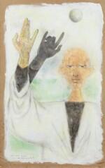 """JEAN COCTEAU. Astrologue. Une main gauche est elle adroite ? 1954.Technique mixte, signée """"Jean"""", 1954, titrée par Cocteau"""