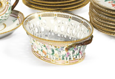 View 2. Thumbnail of Lot 961. A ROYAL COPENHAGEN 'FLORA DANICA' RETICULATED OVAL FRUIT BASKET, LATE 19TH/EARLY 20TH CENTURY.