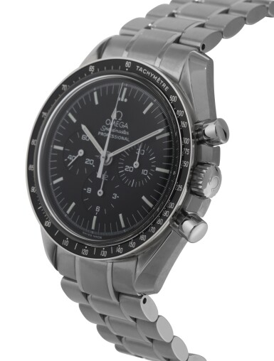 View 2. Thumbnail of Lot 11. OMEGA | SPEEDMASTER, REF 35705000 STAINLESS STEEL CHRONOGRAPH WRISTWATCH WITH BRACELET CIRCA 2004.
