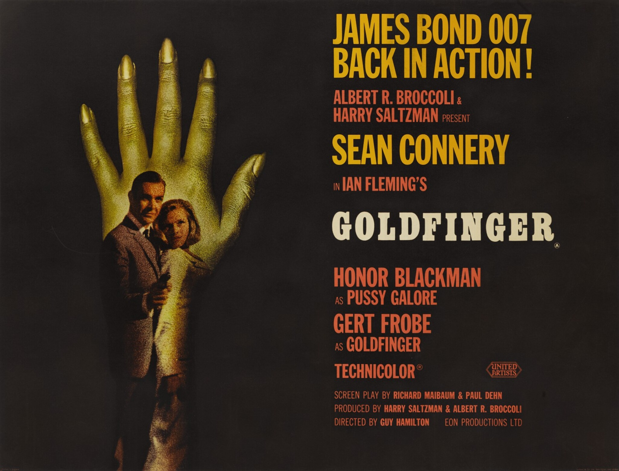 GOLDFINGER (1964) POSTER, BRITISH, STYLE B