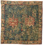A Flemish Armorial and Millefleurs Tapestry, Southern Netherlands, first half 16th century