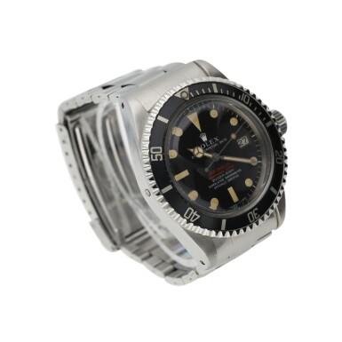 View 2. Thumbnail of Lot 6. ROLEX | REFERENCE 1665 DOUBLE RED SEA-DWELLER  A STAINLESS STEEL AUTOMATIC WRISTWATCH WITH DATE AND BRACELET, CIRCA 1971.