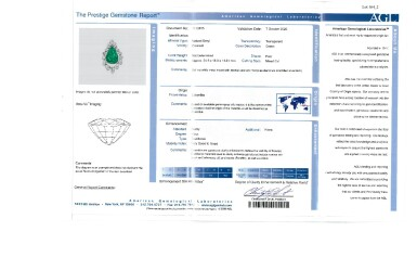 View 4. Thumbnail of Lot 164. Emerald and Diamond Pendant-Necklace [祖母綠配鑽石吊墜項鏈].