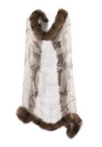 Silk and sable scarf 'Vif Argent', Hermès, 2007