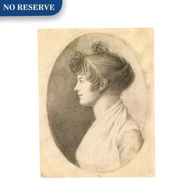 View 1. Thumbnail of Lot 156. Profile portrait of a woman.