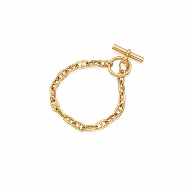 View 1. Thumbnail of Lot 488. Hermés | Gold 'Chaine D'Ancre' Bracelet, Paris.