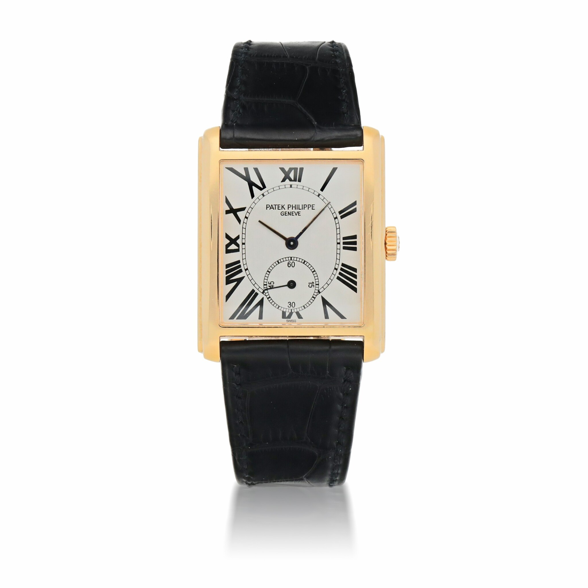 View full screen - View 1 of Lot 909. GONDOLO, REF 5014 YELLOW GOLD WRISTWATCH MADE IN 2002.
