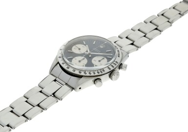 View 6. Thumbnail of Lot 1. ROLEX | REFERENCE 6239 'DOUBLE SWISS UNDERLINE' DAYTONA   A STAINLESS STEEL CHRONOGRAPH WRISTWATCH WITH REGISTERS, CIRCA 1963.