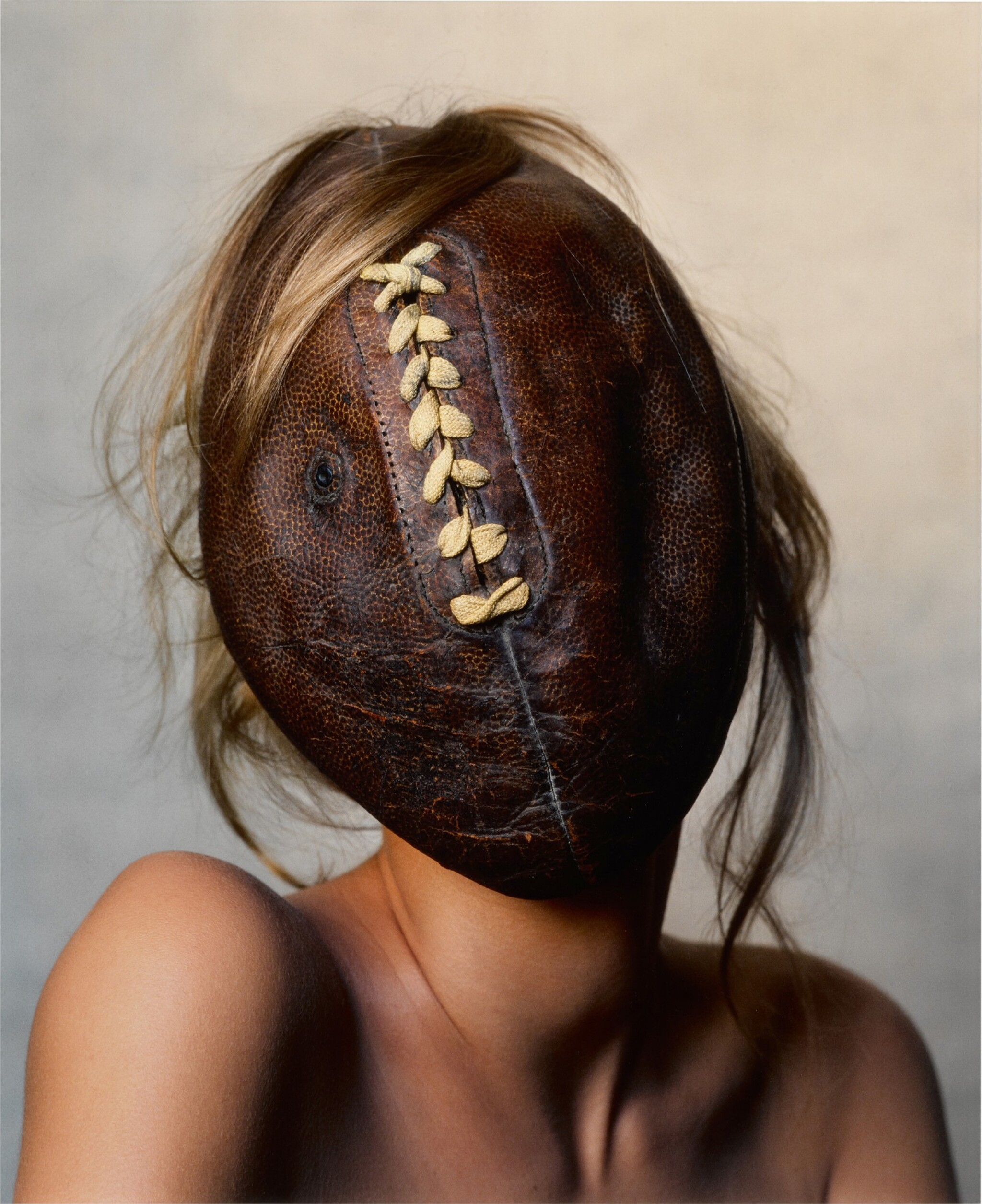 View full screen - View 1 of Lot 11. 'Football Face, New York, Sept. 24, 2002'.