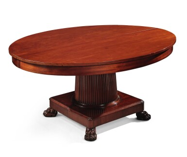 View 7. Thumbnail of Lot 99. A German Neoclassical Mahogany Dining Table, Early 19th Century.