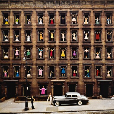 View 1. Thumbnail of Lot 67. Girls in the Windows, New York City.