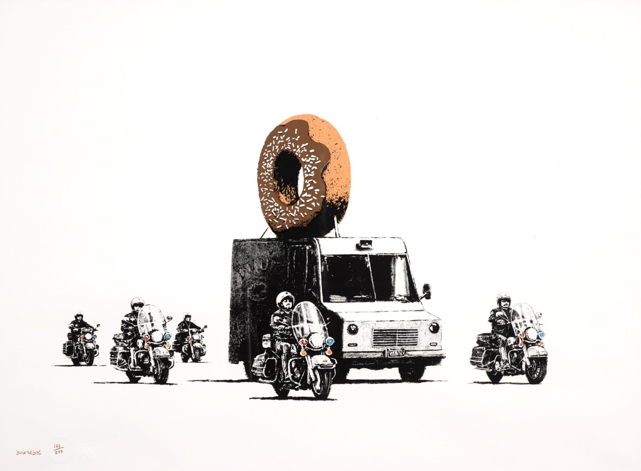 View 1 of Lot 8. BANKSY | DONUTS CHOCOLATE.