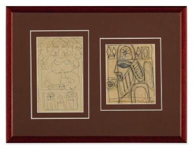 View 2. Thumbnail of Lot 1809. JAMINI ROY | UNTITLED (GANESH); UNTITLED (KINGDOM OF CARDS).