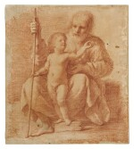GIOVANNI FRANCESCO BARBIERI, CALLED GUERCINO | THE CHRIST CHILD WITH ST. JOSEPH