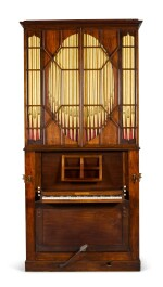 A George III mahogany chamber organ by Hugh Russell, 1780