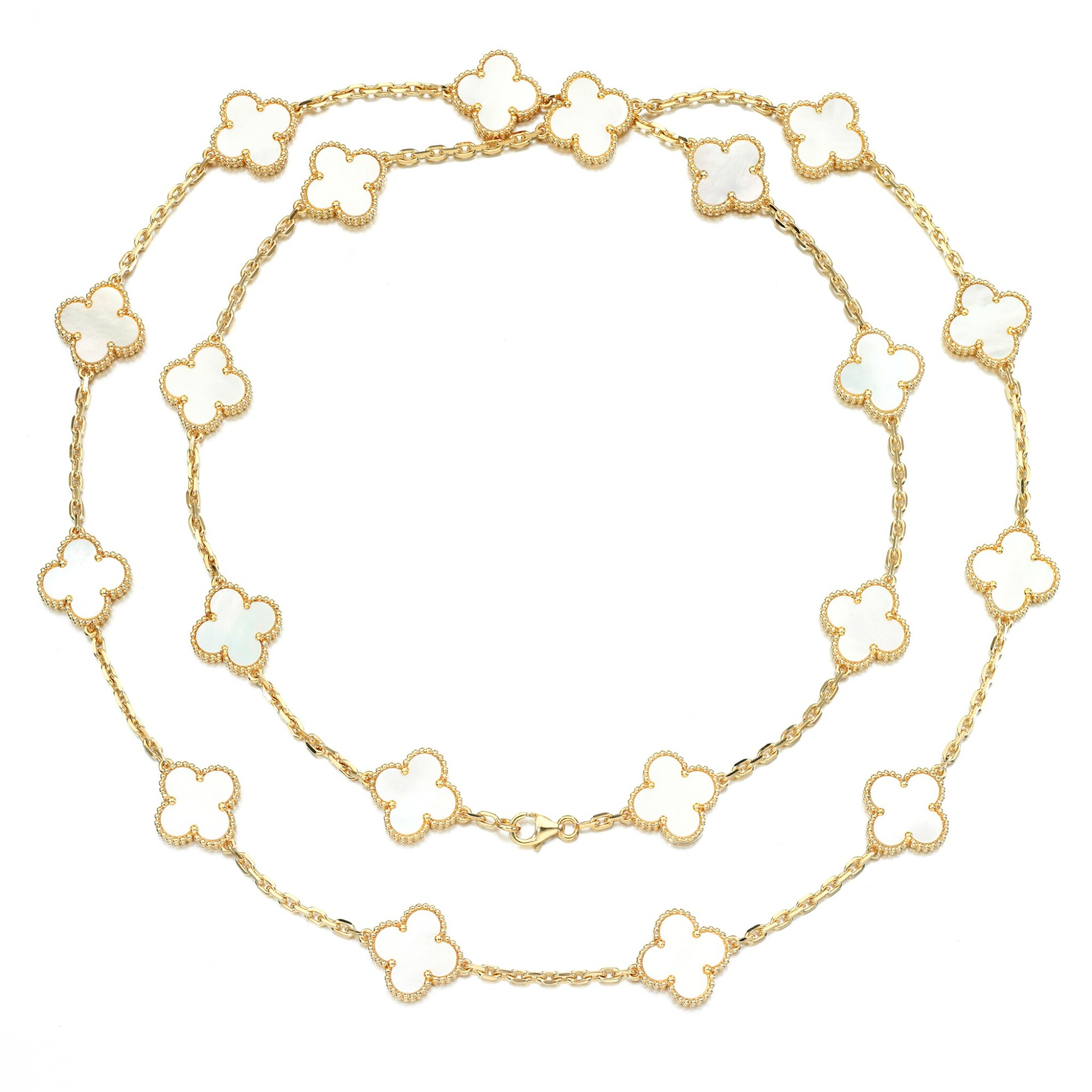 View full screen - View 1 of Lot 62. Mother of pearl necklace, 'Alhambra'.