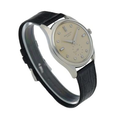 View 3. Thumbnail of Lot 78. Ref. 2526P Platinum and diamond-set wristwatch Made in 1954 | 百達翡麗 2526P型號鉑金鑲鑽石腕錶,1954年製.