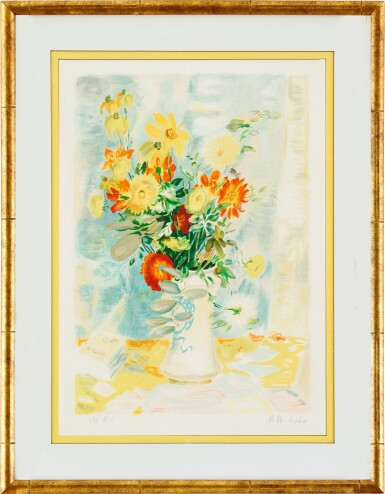 View 7. Thumbnail of Lot 4514. (i) Le Fleurs (ii) An associated lithograph of Le Fleurs (Hors Commerce 1) | (I)花卉  (II)相關石版畫.