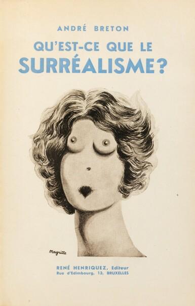 View 3. Thumbnail of Lot 223. Qu'est-ce que le surréalisme ? 1934. EO. Ex de René Char sur papier vert, dans une reliure de Sün Evrard.