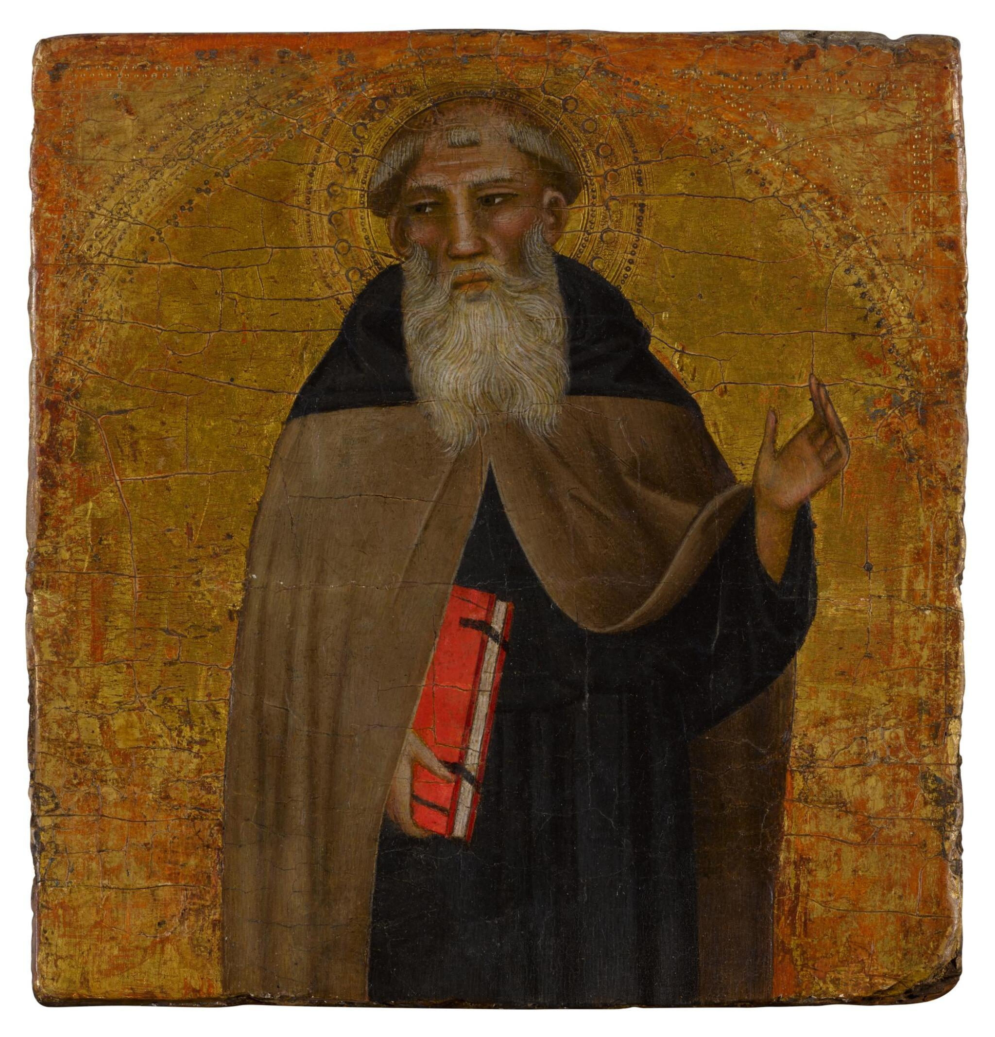 View full screen - View 1 of Lot 5. A male saint, possibly Saint Anthony Abbot .