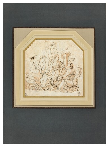 View 2. Thumbnail of Lot 9. An Allegory of Abundance in a drawn circle.