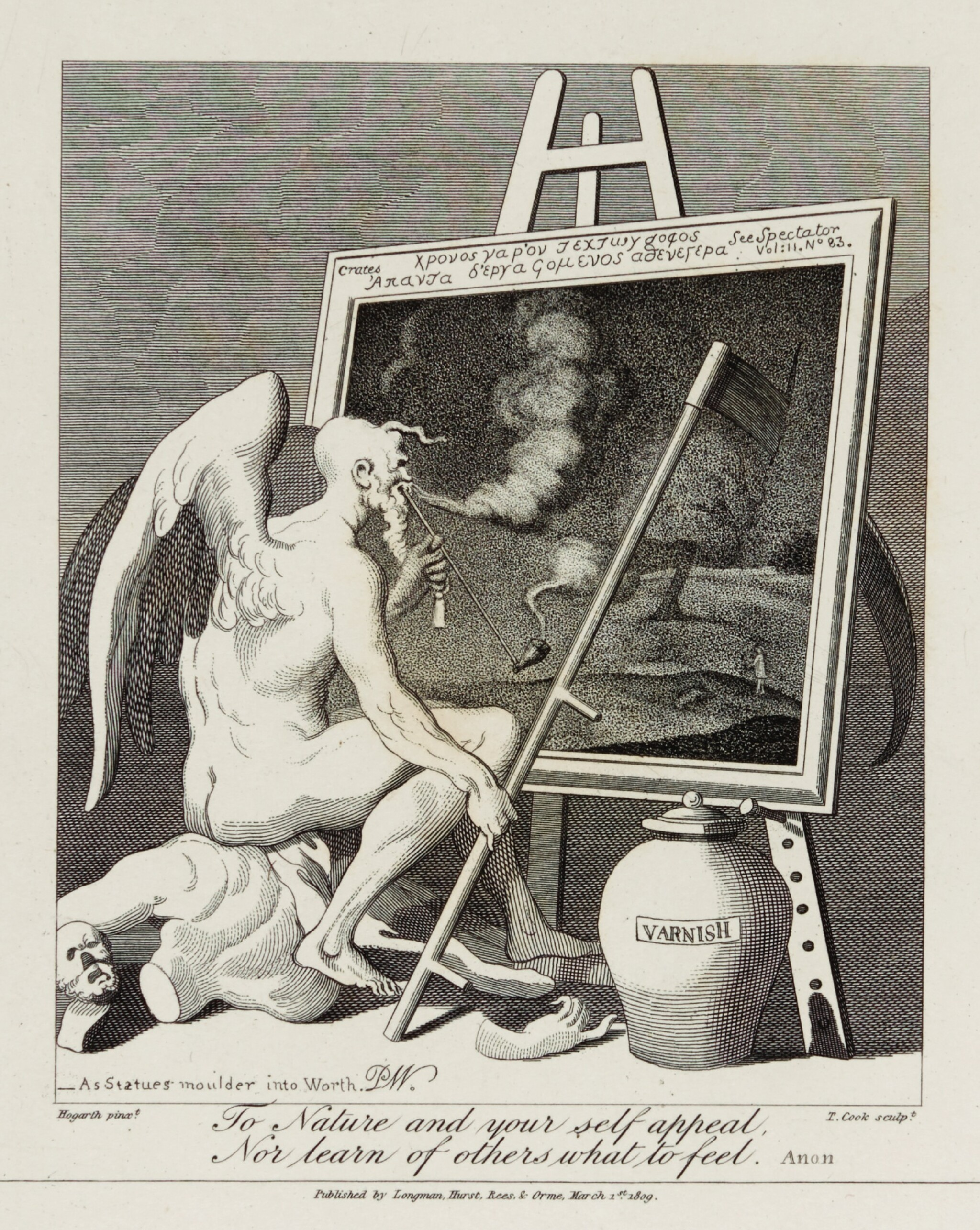 View full screen - View 1 of Lot 126. HOGARTH, WILLIAM | THE WORKS. 1821, 2 VOLUMES.
