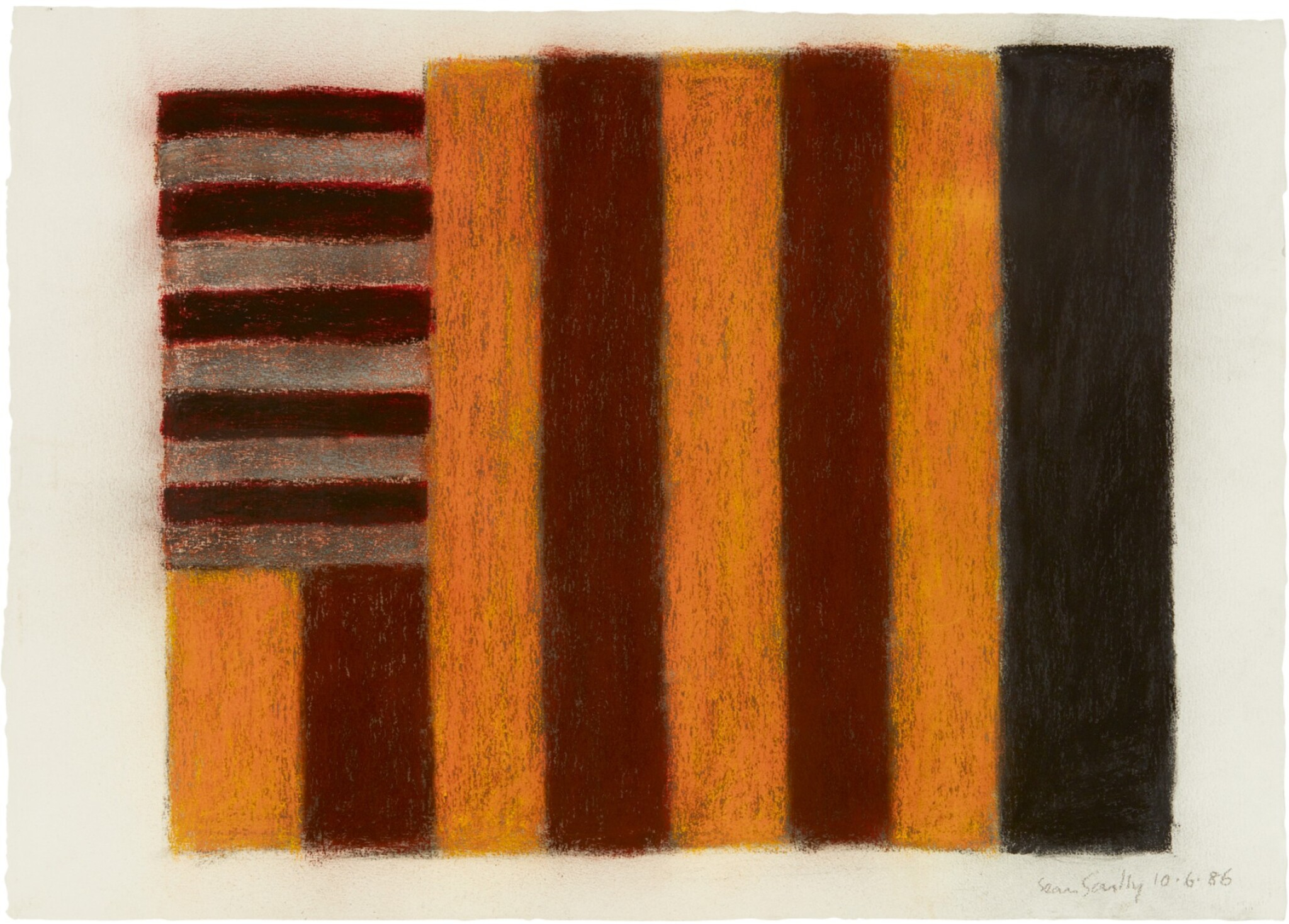 View 1 of Lot 215. SEAN SCULLY   10.6.86.