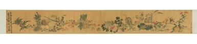 View 3. Thumbnail of Lot 765. LI SHAN 1686-1762 | FLOWERS, FRUITS, FISH AND VEGETABLES.