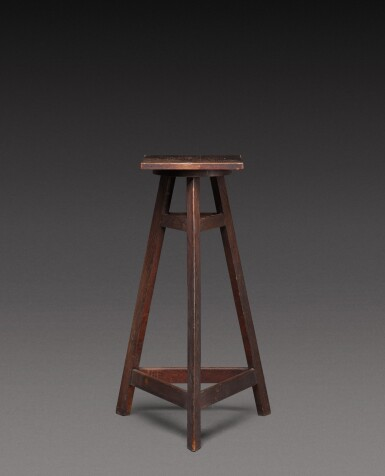 View 3. Thumbnail of Lot 181. A sculptor's oak tripod stand, probably French, 20th century.