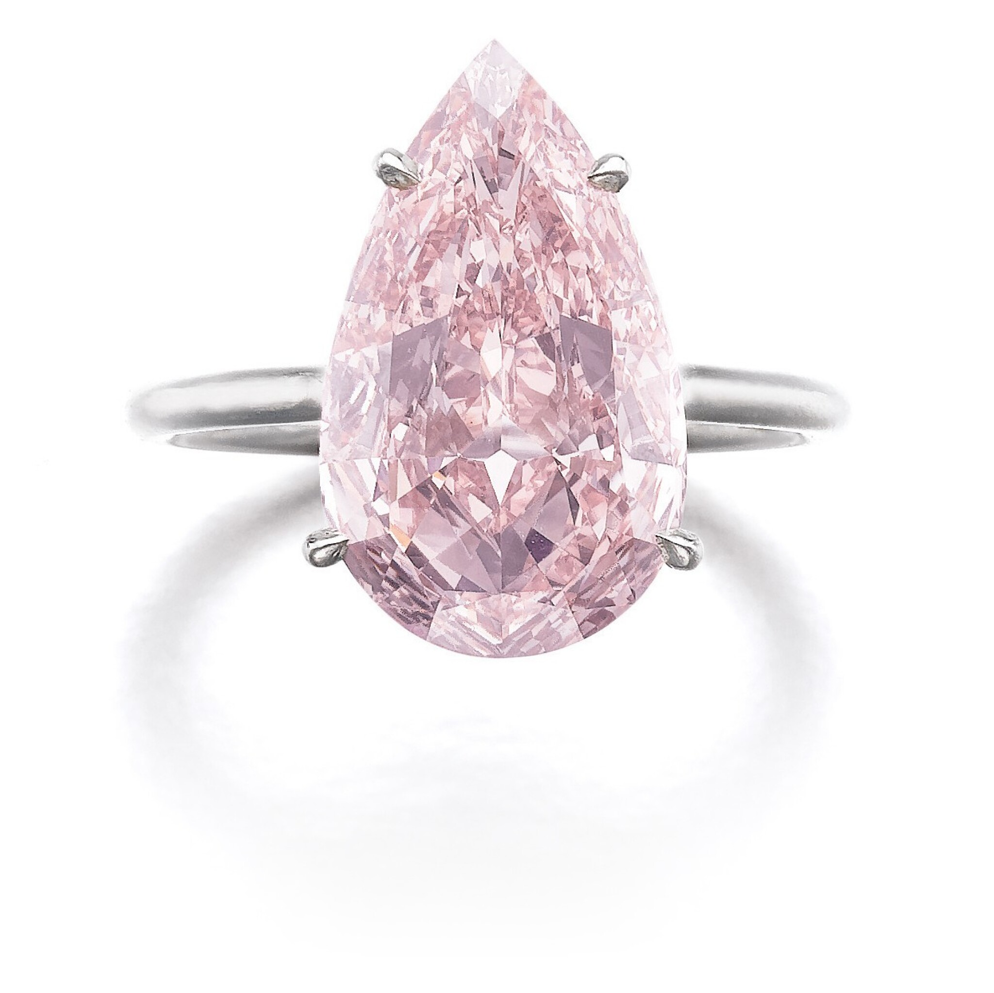 View full screen - View 1 of Lot 321. IMPORTANT FANCY PINK DIAMOND RING.