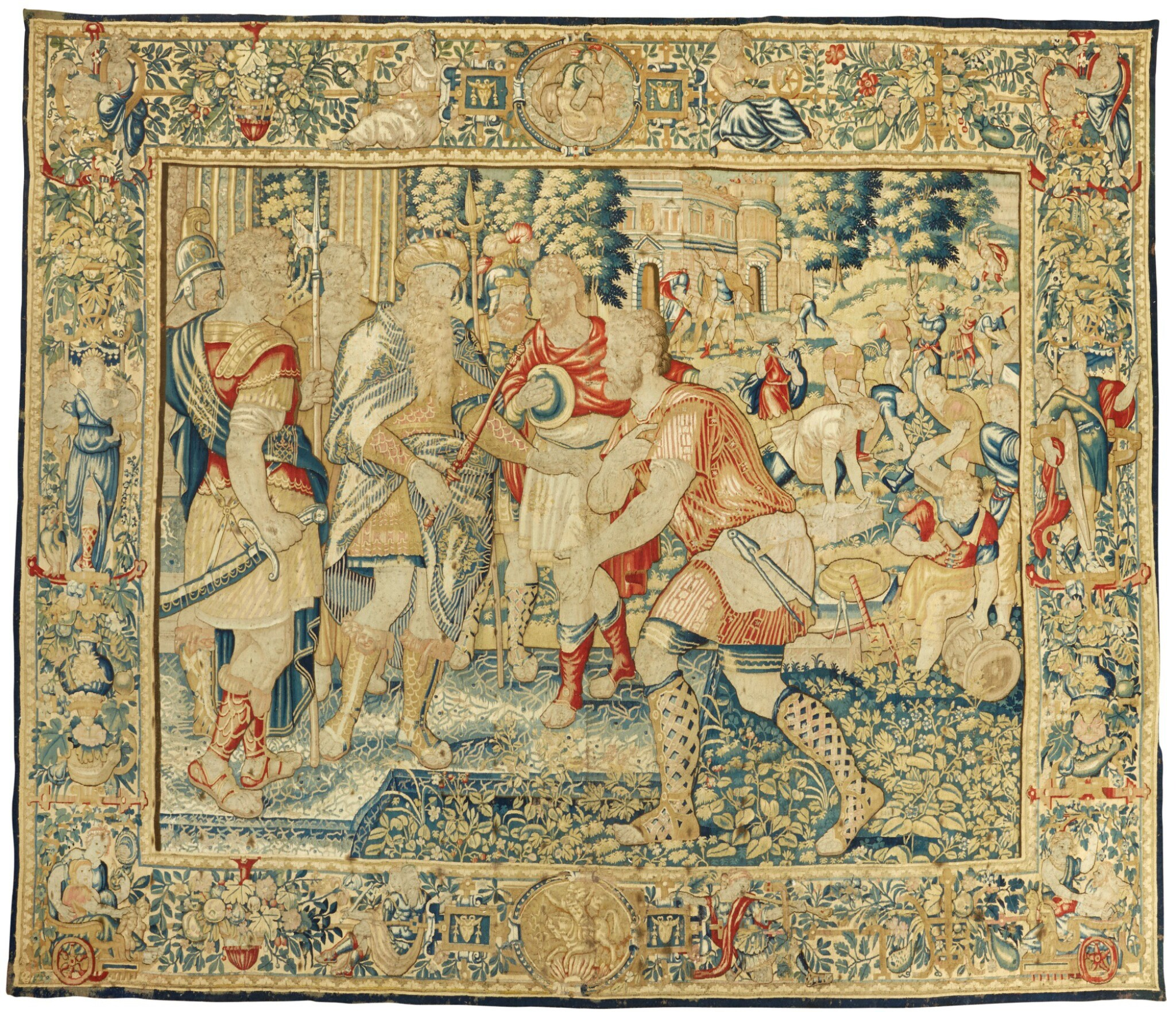 View full screen - View 1 of Lot 82. A FLEMISH OLD TESTAMENT BIBLICAL NARRATIVE TAPESTRY, BRUSSELS SECOND HALF 16TH CENTURY.